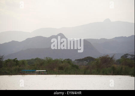 Lake Chamo, Nechisar National Park, Ethiopia - Stock Photo