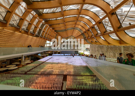 inside China pavilion main hall, EXPO 2015 Milan - Stock Photo