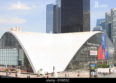 CNIT building in the La Défense business district of Paris, France. - Stock Photo