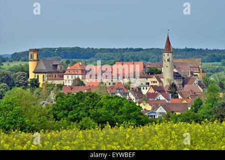 Townscape, Kirchberg an der Jagst, Baden-Württemberg, Germany - Stock Photo