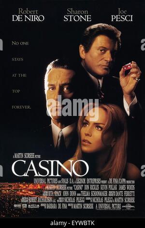 Casino ; Year : 1995 USA ; Director : Martin Scorsese ; Sharon Stone, Robert de Niro, Joe Pesci ; Movie poster (USA) - Stock Photo