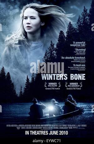 Winter's Bone ; Year : 2010 USA ; Director : Debra Granik ; Jennifer Lawrence ; Movie poster (USA) - Stock Photo