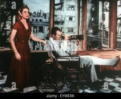 Rear Window ; Year: 1954 - USA ; Director: Alfred Hitchcock ; Grace Kelly, James Stewart - Stock Photo