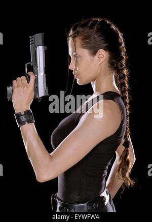 Lara Croft: Tomb Raider ; Year : 2001 - USA ; Director : Simon West ; Angelina Jolie - Stock Photo