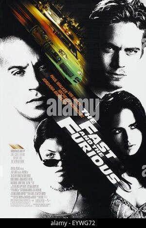 The Fast and the Furious ; Year : 2001 USA ; Director : Rob Cohen ; Vin Diesel, Paul Walker ; Movie poster (USA) - Stock Photo