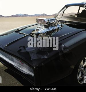 Fast and Furious ; Year : 2009 USA ; Director : Justin Lin ; Movie poster (sans texte) - Stock Photo