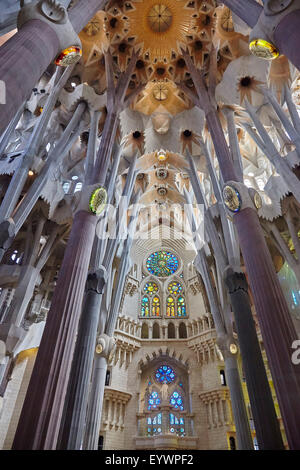 Sagrada Familia, UNESCO World Heritage Site, Barcelona, Catalonia, Spain, Europe - Stock Photo