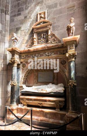 Tomb of James Graham, 1st Marquis of Montrose, St. Giles' Cathedral, Edinburgh, Scotland, United Kingdom, Europe - Stock Photo