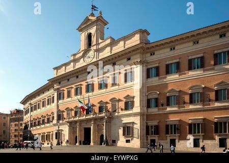 Palazzo Montecitorio, Parliament Building, Rome, Lazio, Italy, Europe - Stock Photo