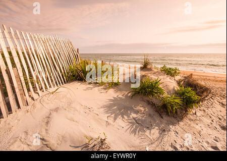 Beach near Kitty Hawk, Outer Banks, North Carolina, United States of America, North America - Stock Photo