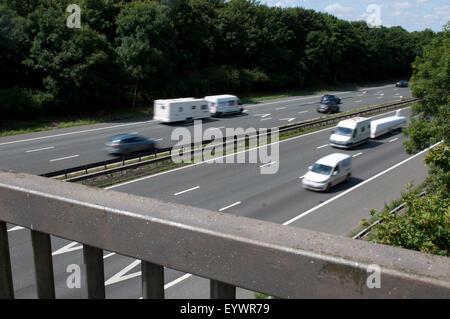 M6 motorway near Easenhall, Warwickshire, UK - Stock Photo
