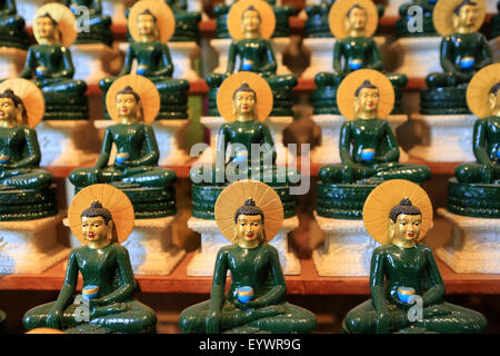Emerald Buddha, Tu An Buddhist temple, Bonneville, Rhone-Alpes, France, Europe - Stock Photo