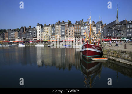 Le Vieux Bassin, Honfleur, Basse-Normandie, France, Europe - Stock Photo