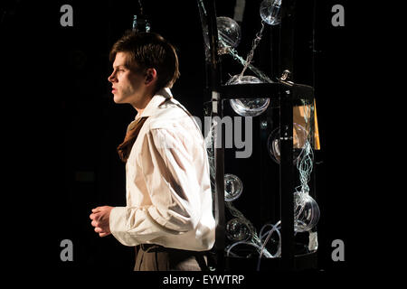 Actors performing in 'To Kill a Machine' a  play written by Welsh writer Catrin Fflur Huws about the life of mathematician - Stock Photo