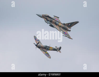 Battle of Britain 75th Anniversary Airshow held at Biggin Hill in Kent, England. - Stock Photo