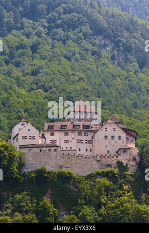 Vaduz, Liechtenstein. Schloss Vaduz.  The castle of Vaduz. - Stock Photo