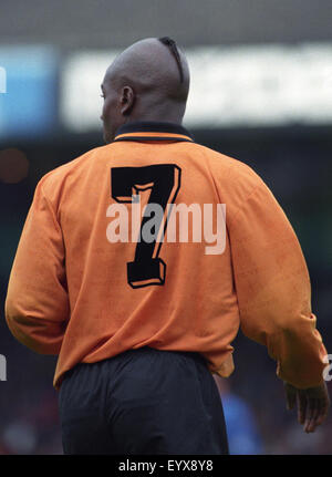 Footballer Tony Daley with unusual hair style 1995 - Stock Photo