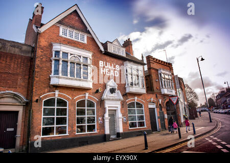 The Bull's Head pub in Moseley Village which is being featured in the urban section of 'Best Places to Live', Birmingham - Stock Photo