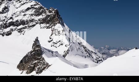 Sphinx viewing platform at the top of the Jungfraujoch - Stock Photo