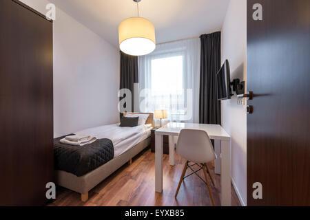 Modern and small sleeping room interior design stock photo for Sleeping room design
