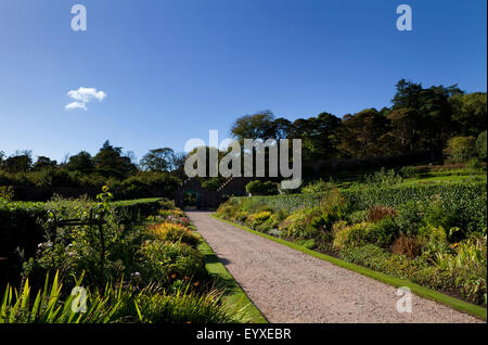 Victorian Walled Garden, Kylemore Abbey, Connemara, County Galway, Ireland. Built in 1870, fell into neglect and - Stock Photo