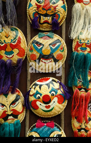 Traditional Vietnamese masks for sale, Temple of Literature, Hanoi, Vietnam - Stock Photo