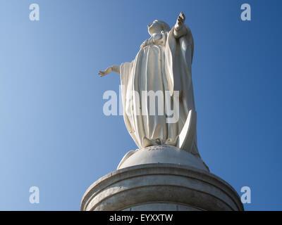 Virgin Mary statue on Cerro San Cristobal, Santiago, Chile - Stock Photo