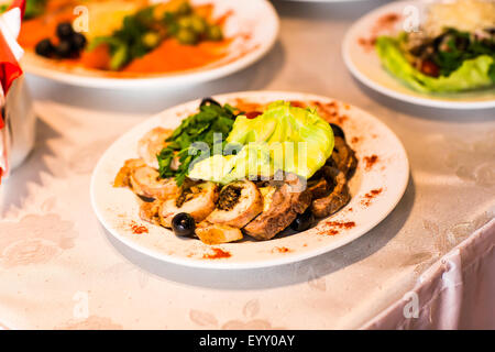 meat dish with vegetables - Stock Photo