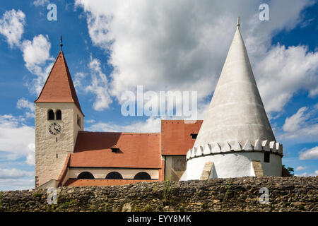 church and chapel in Friedersbach, Zwettl, Austria, Waldviertel, Friedersbach - Stock Photo