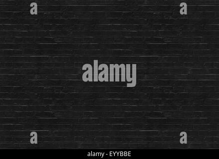 Seamless black brick wall pattern - Stock Photo