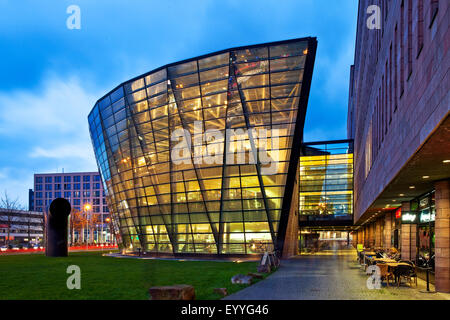 Dortmund City and State Library in the evening, Germany, North Rhine-Westphalia, Ruhr Area, Dortmund - Stock Photo