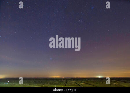 Orion over island Juist, Germany, Lower Saxony, Juist - Stock Photo