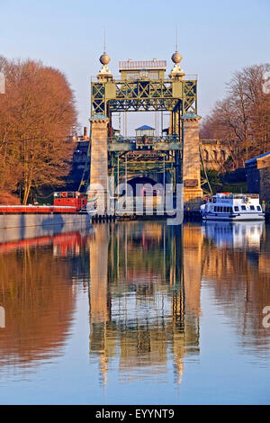 old Henrichenburg boat lift, Waltrop Lock Park, Germany, North Rhine-Westphalia, Ruhr Area, Waltrop