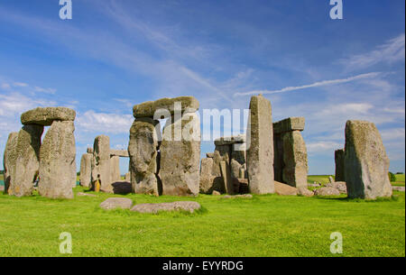 Stonehenge, Wiltshire, United Kingdom, England, Stonehenge - Stock Photo