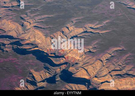 Colorado-Plateau, Grand Canyon, aerial view, USA - Stock Photo