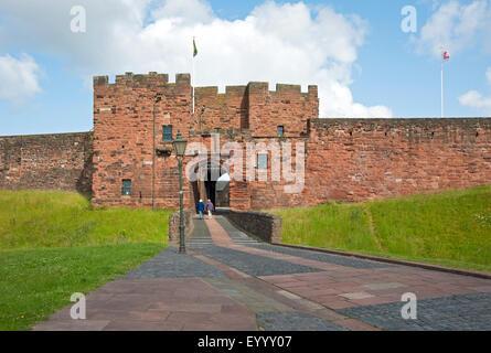 Entrance to the castle Carlisle Cumbria England UK United Kingdom GB Great Britain - Stock Photo