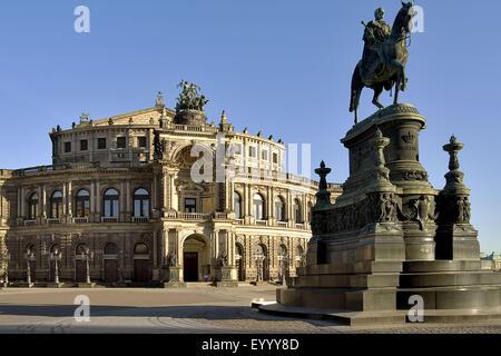 Semperoper in Dresden, Germany, Saxony, Dresden - Stock Photo