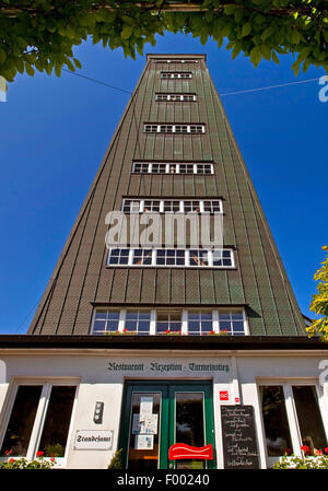 Rhein-Weser Tower in Kirchhundem, Germany, North Rhine-Westphalia, Sauerland, Kirchhundem - Stock Photo