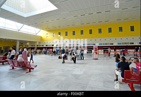Bordeaux Merignac international airport Gironde Aquitaine France - Stock Photo