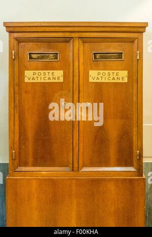 Vatican post boxes. Vatican City. Rome. Italy. - Stock Photo