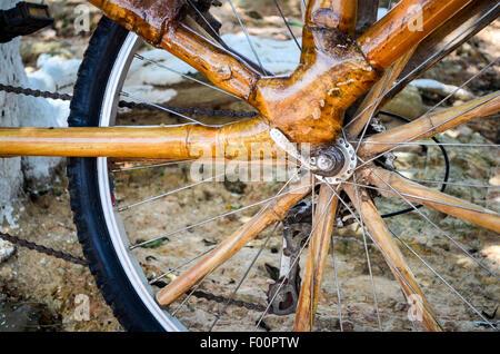 Ghana bamboo bikes - Stock Photo