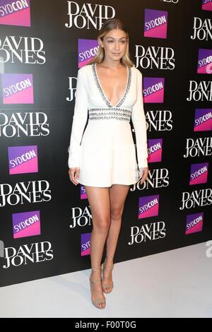 Sydney, Australia. 5 August 2015. Gigi Hadid arrives at the David Jones Spring/Summer 2015 Collection Launch at - Stock Photo
