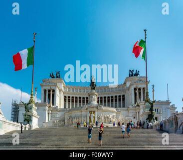 Altare della Patria or National Monument to Victor Emmanuel II. Rome, Italy. - Stock Photo