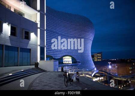 selfridges building at night birmingham bullring england uk - Stock Photo
