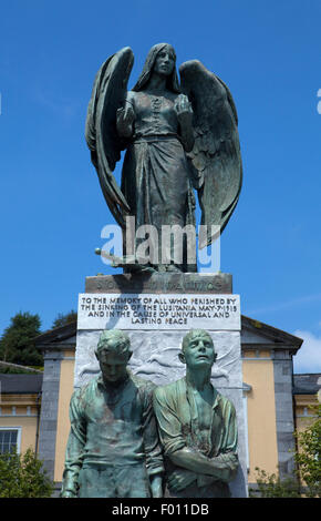 Memorial to those who died in the 'Lucitania', 1915, Casement Square, Cobh, known from 1849 until 1920 as Queenstown, - Stock Photo