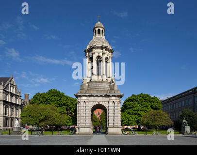 The Campanile made 1853, in Parliament Square, Trinity College, Dublin, Ireland - Stock Photo