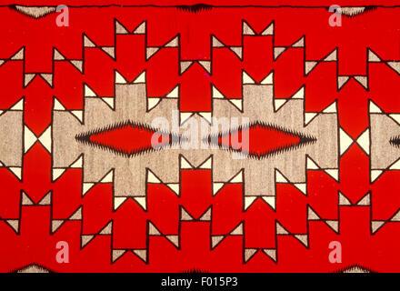 Navajo Indian rug, Museum of Northern Arizona, Flagstaff, Arizona - Stock Photo