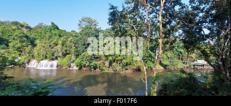 Panorama Sai Yok Yai waterfall - Stock Photo