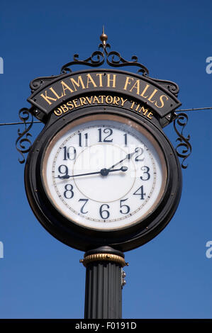 Klamath Falls clock, Klamath Falls, Oregon - Stock Photo