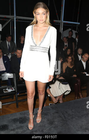 Sydney, Australia. 5 August 2015. Gigi Hadid is front row at the David Jones Spring/Summer 2015 Collection Launch - Stock Photo